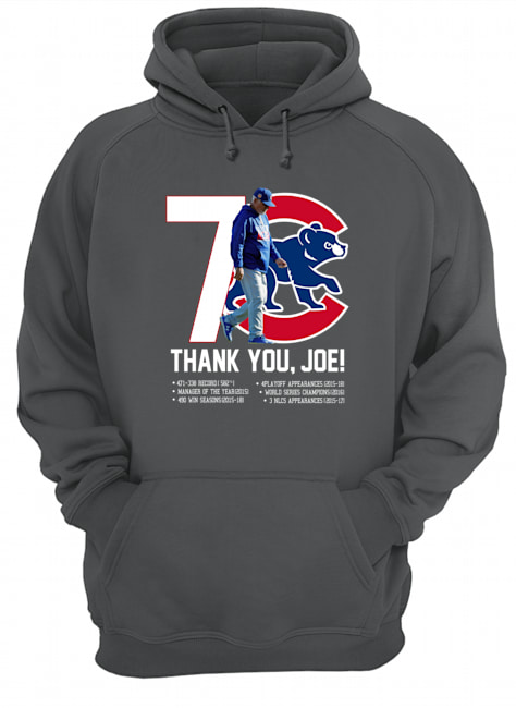 7 Chicago Cubs thank you Joe hoodie