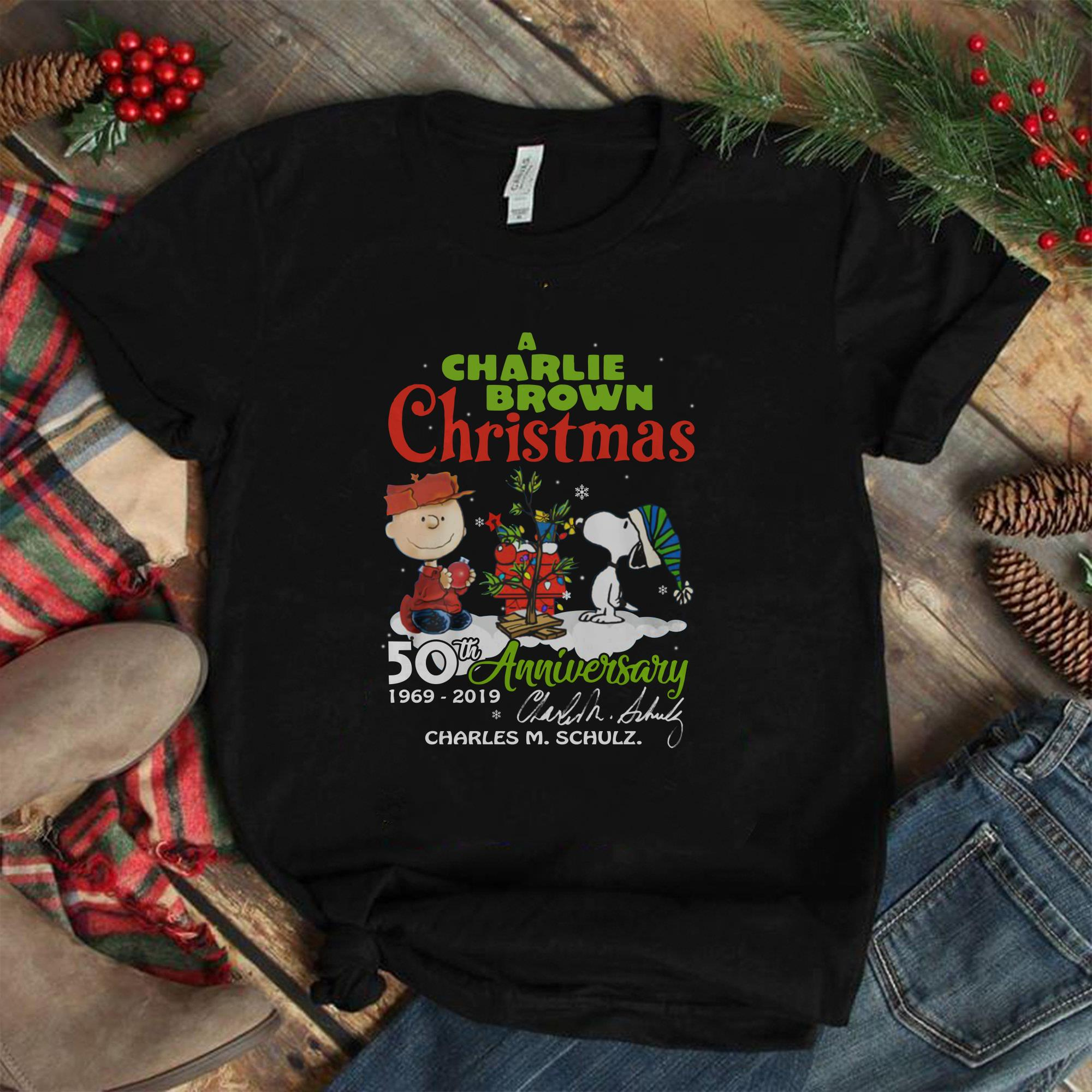 When Is Charlie Brown Christmas On.A Charlie Brown Christmas 50th Anniversary Charles M Schulz Shirt Hoodie Tank Top