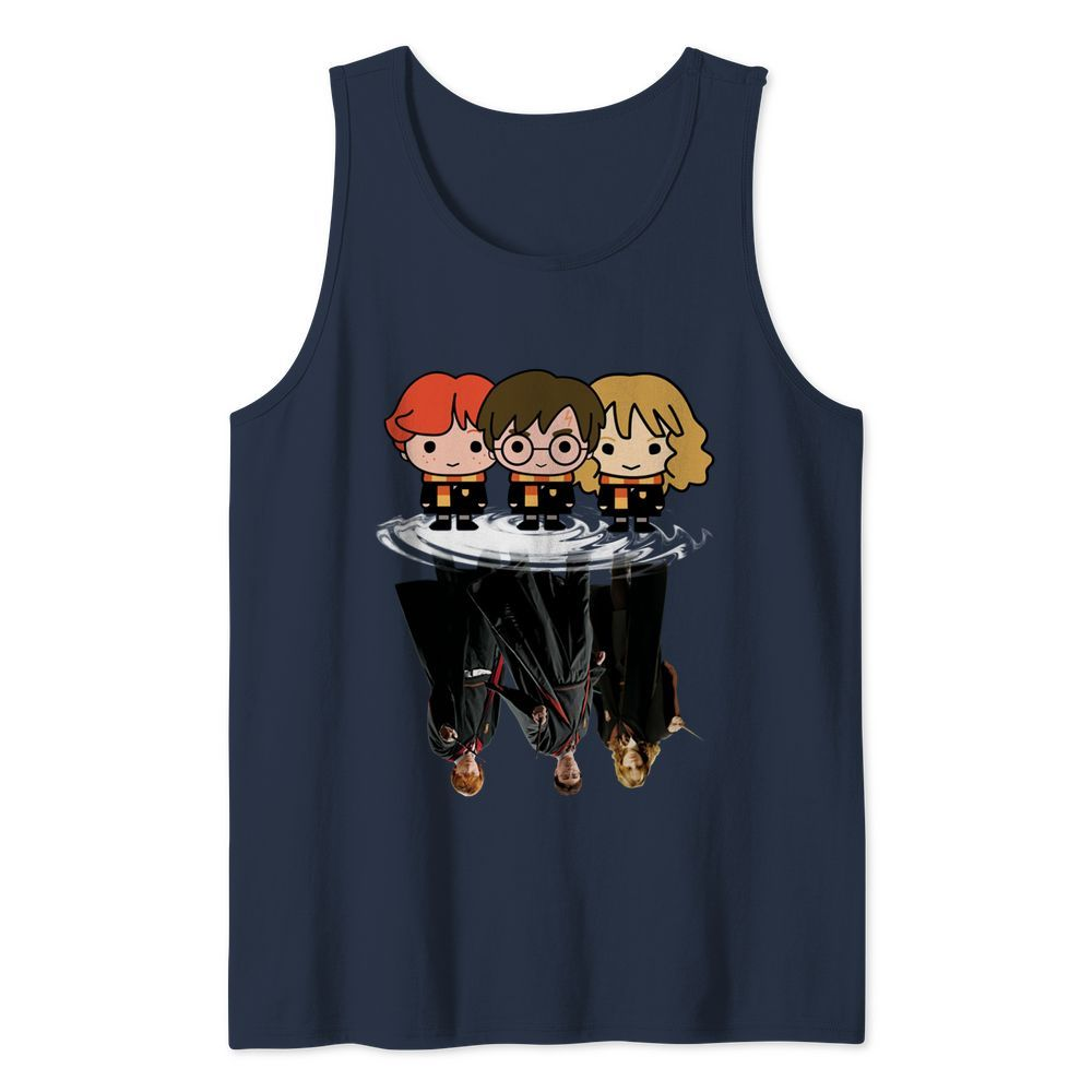 Harry Potter chibi characters water mirror reflection tank top