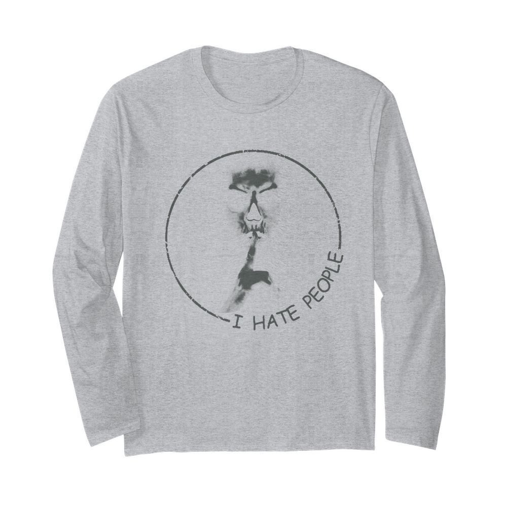 Skull I hate people long sleeved
