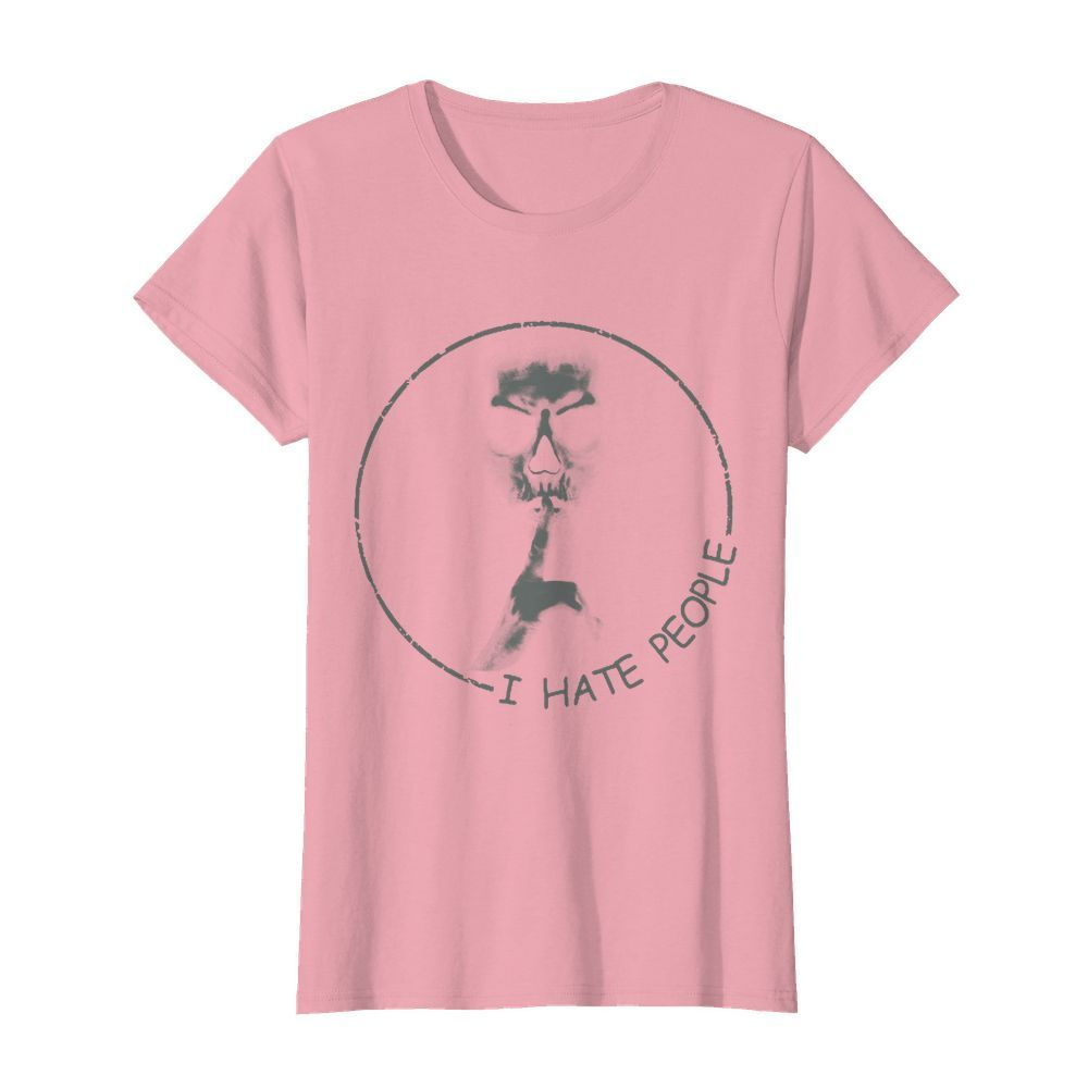 Skull I hate people womens shirt