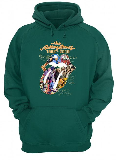 The rollling stones 1962 2019 signature hoodie