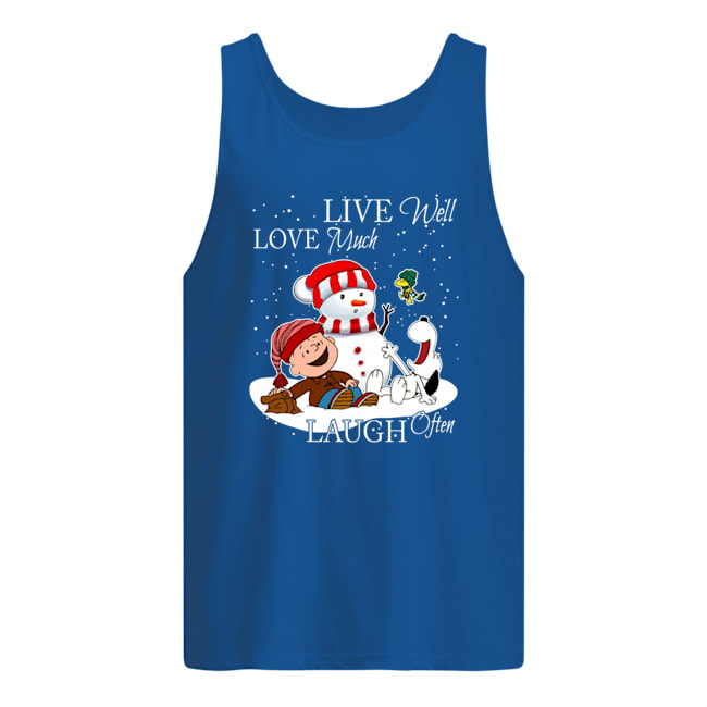 Great Snoopy and Charlie Brown live well love much laugh often shirt