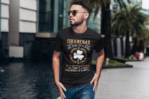 Bestseller Grandma the soul of a witch the fire of a lioness shirt