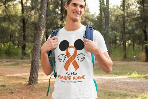 New Mickey mouse no one fights alone multiple sclerosis awareness shirt