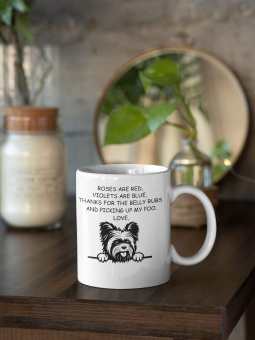 Top Yorkshire rose are red violets are blue mug