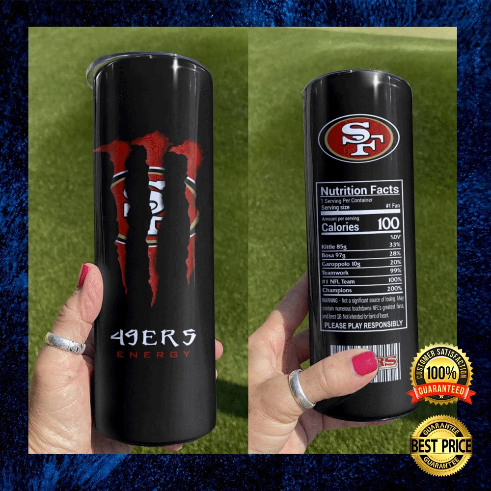 49ers Monster Energy Skinny Tumbler 4