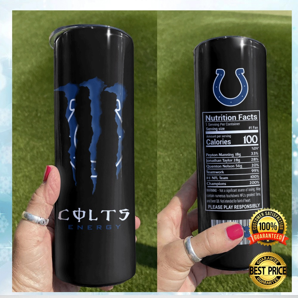 Colts Energy Skinny Tumbler 4