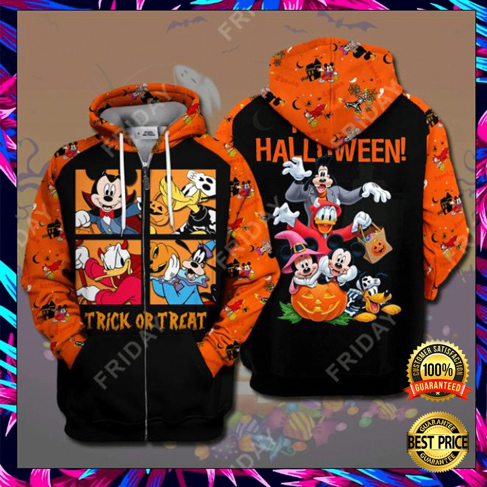 Disney Characters Trick Or Treat Happy Halloween 3D All Over Printed Hoodie 4