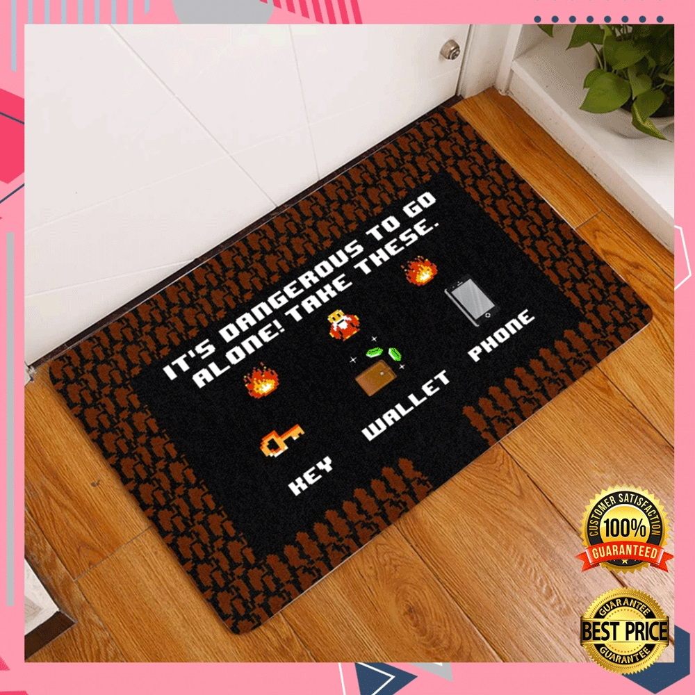 It's Dangerous To Go Alone Take These Key Wallet Phone Doormat 4