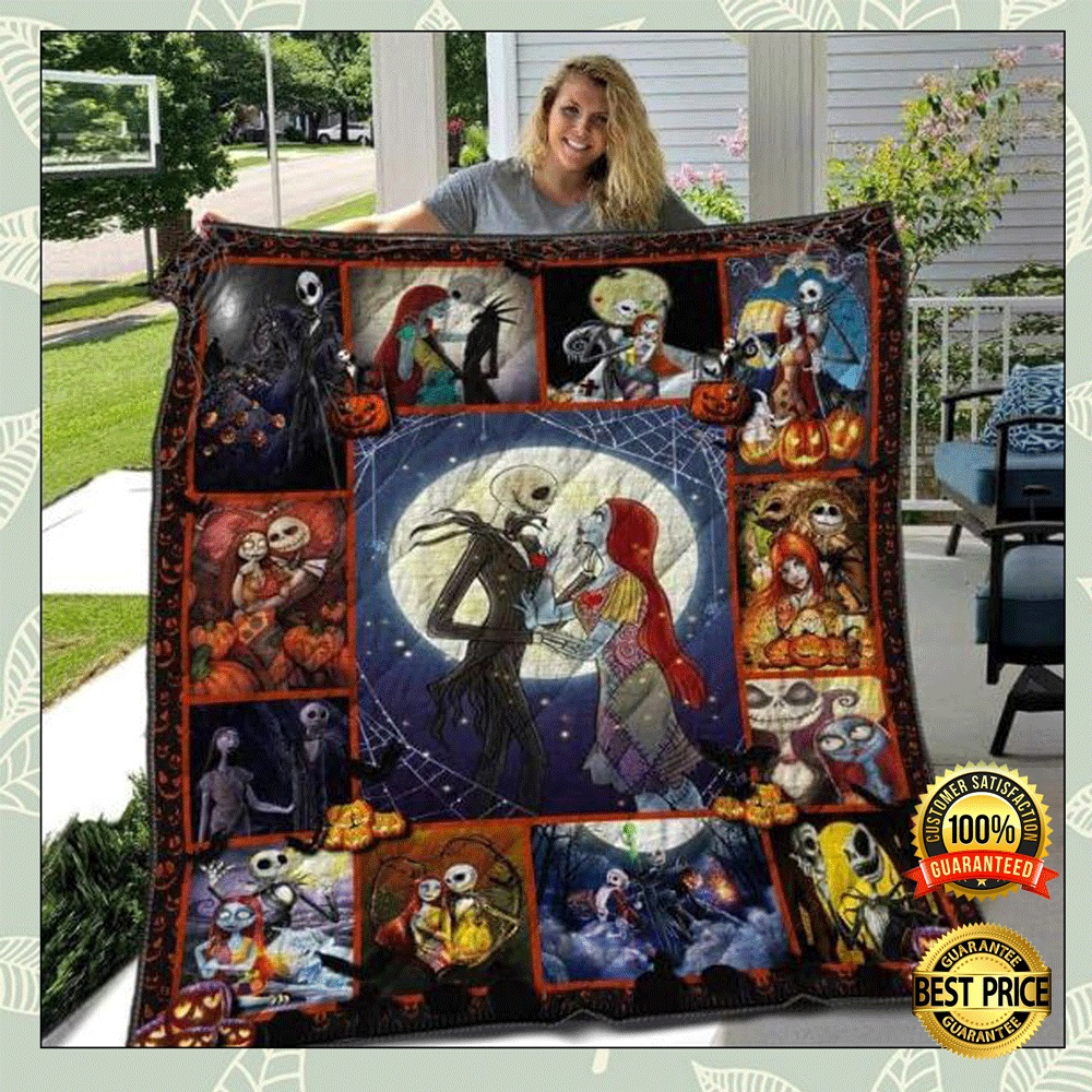 [Cheapest] Jack Skellington And Sally 3D Quilt