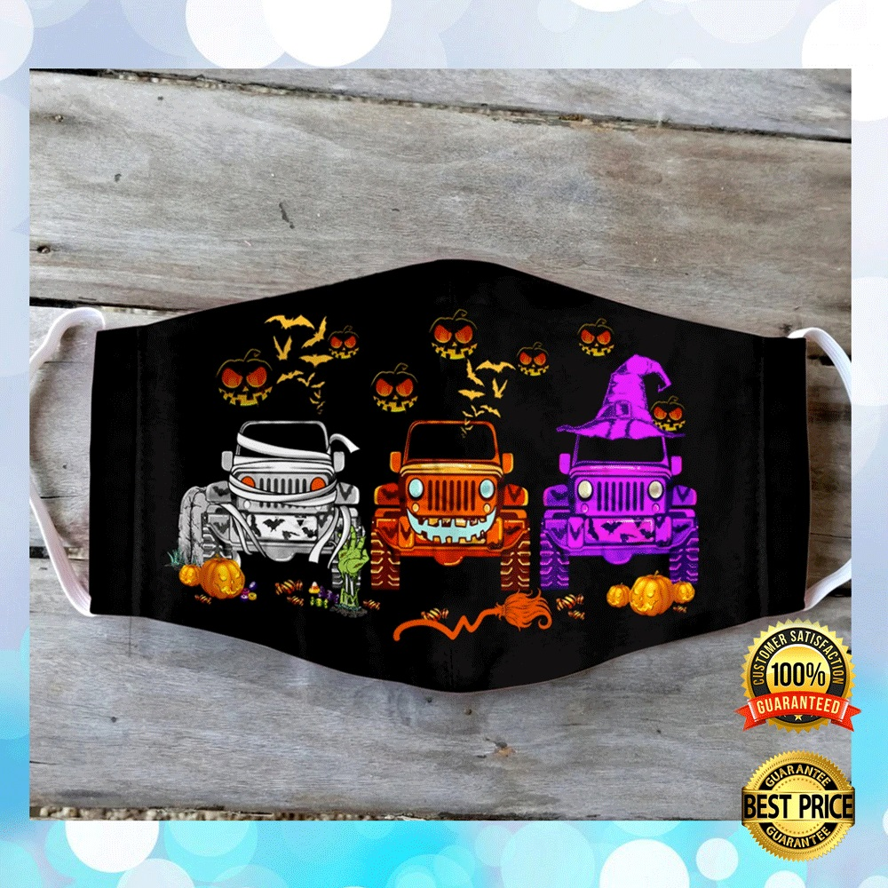 Jeep Happy Halloween Face Mask 4