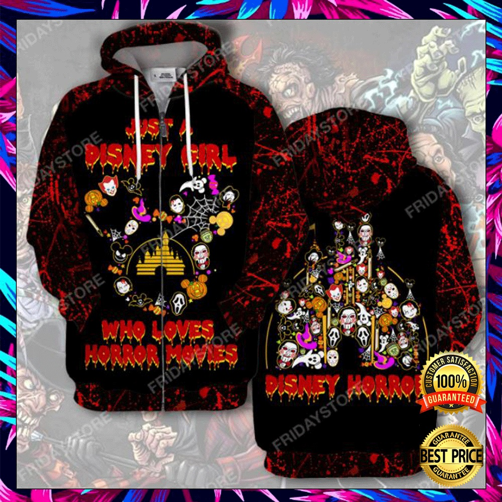 Just A Disney Girl Who Loves Horror Movies 3D All Over Printed Hoodie 4