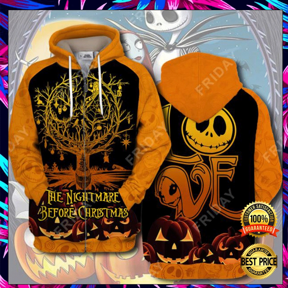 Love The Nightmare Before Christmas 3D All Over Printed Hoodie 4