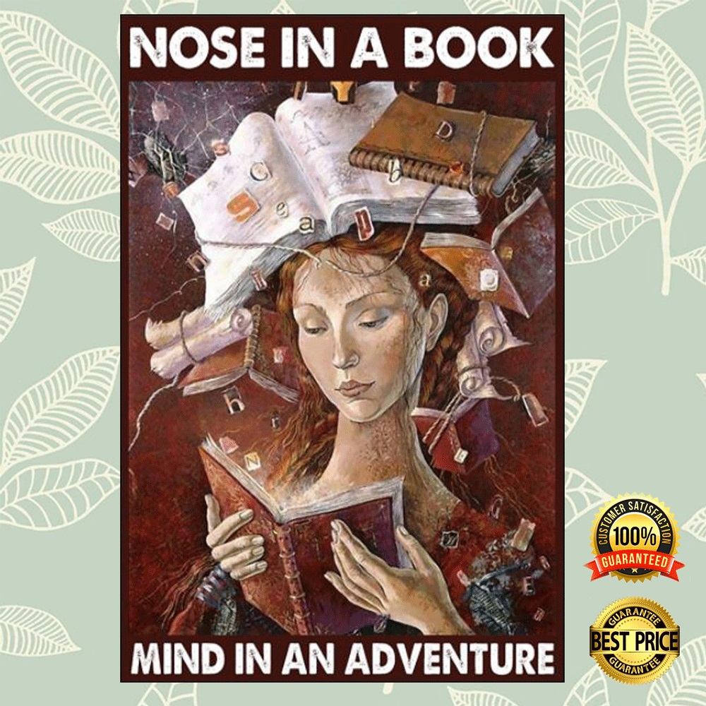 Nose in a book mind in an adventure poster 4
