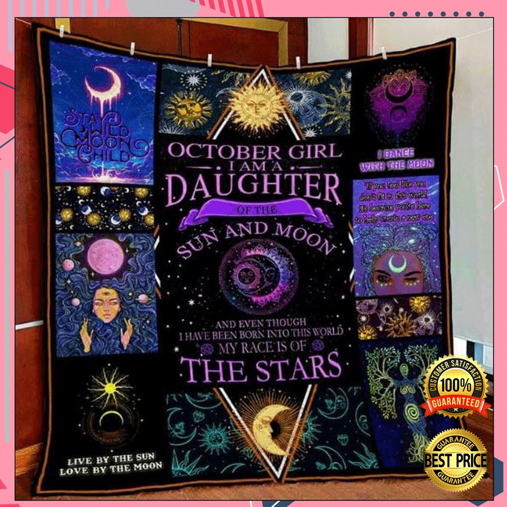 October Girl I Am A Daughter Of The Sun And Moon 3D Quilt 4