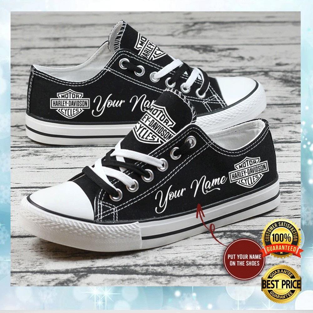 Personalized Harley Davidson Low Top Shoes 4