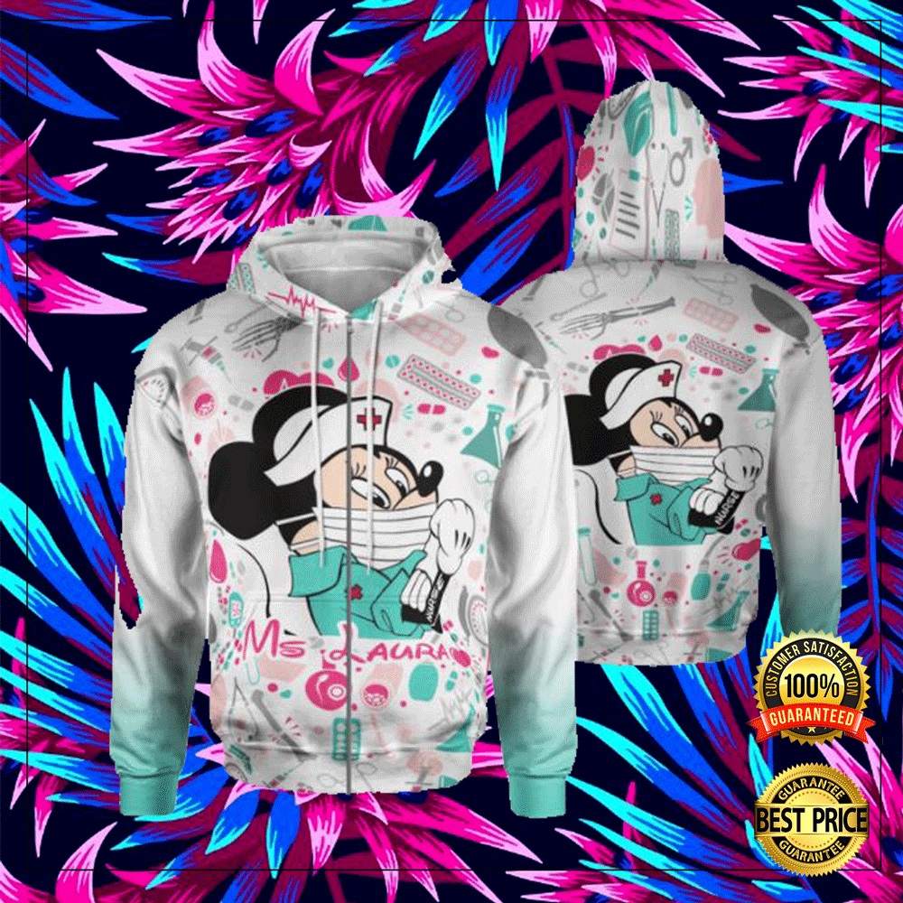 Personalized Minnie Mouse Strong Nurse 3D All Over Printed Hoodie 4