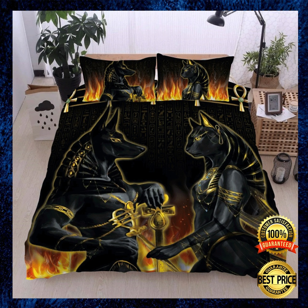 Anubis And Bastet Bedding Set 4
