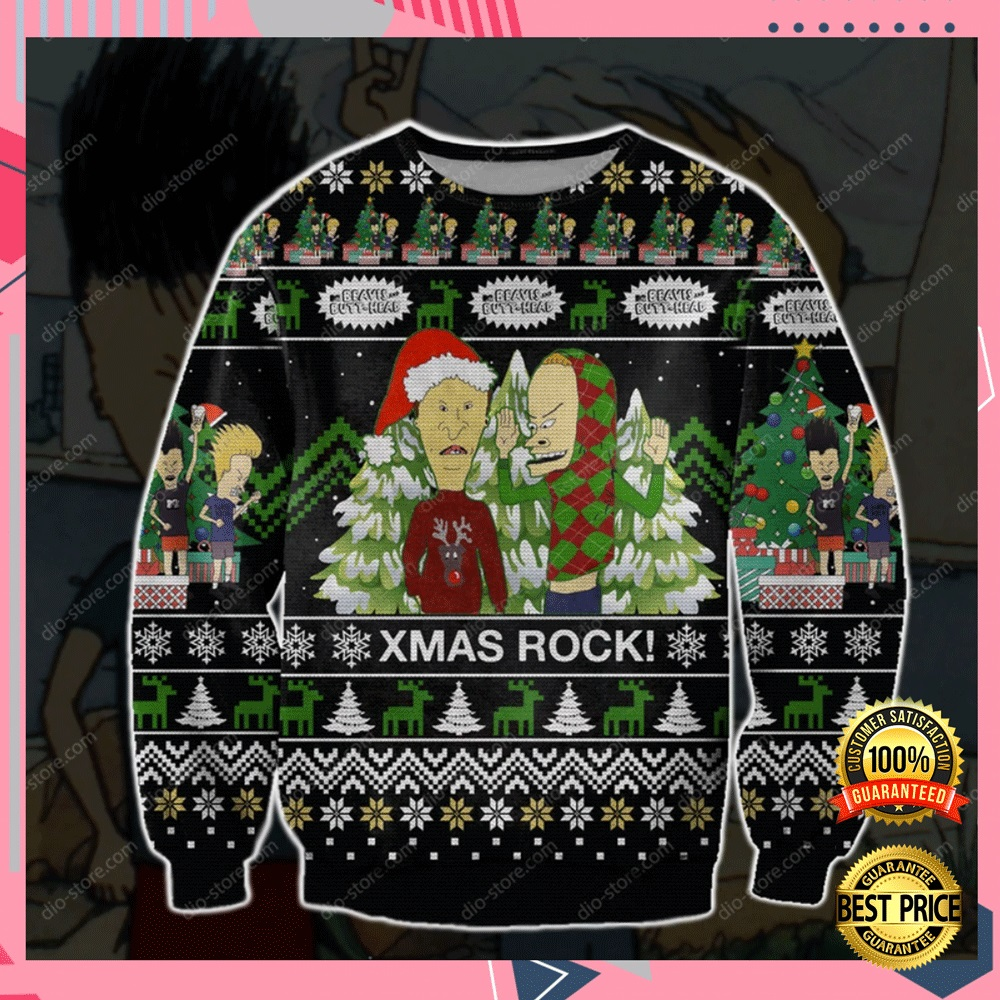 Beavis And Butt-Head 3d Ugly Sweater 4