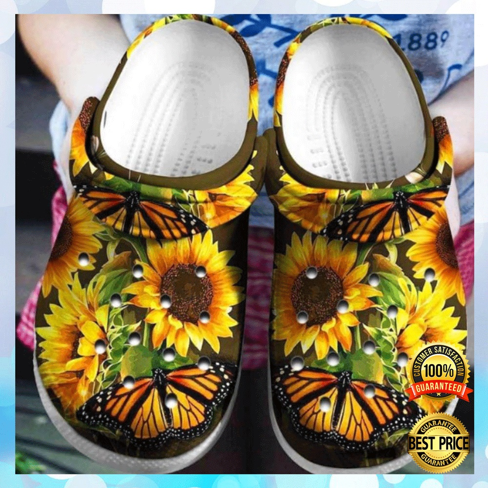 Butterfly And Sunflower Crocs Crocband 4