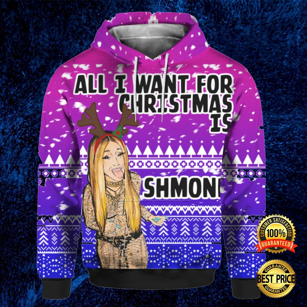 Cardi B All I Want For Christmas Is Shmoney 3d Ugly Sweater 4