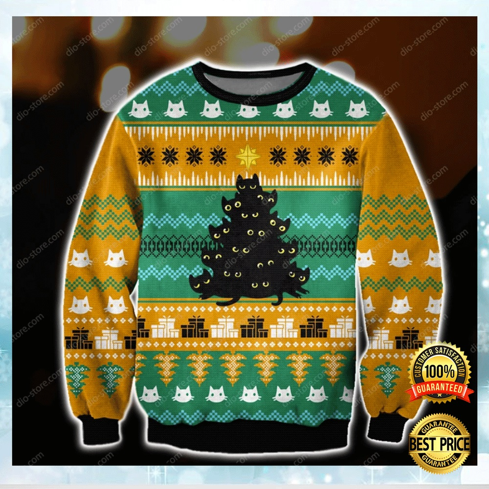 Cats Christmas Tree Ugly Sweater 4