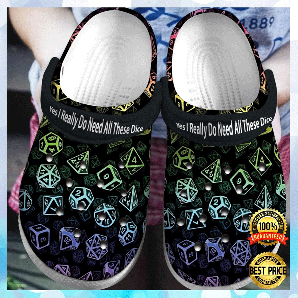 D20 Yes I Really Do Need All These Dice Crocs Crocband 4
