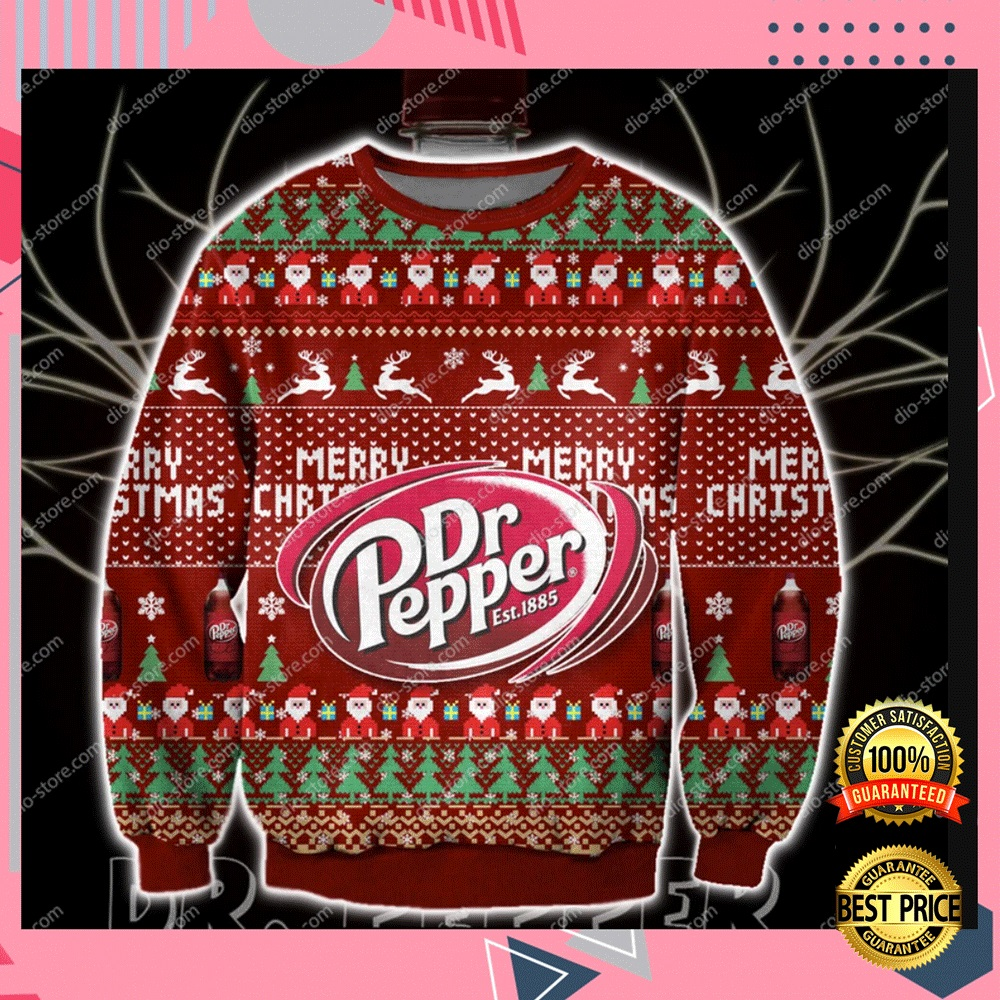 Dr Pepper Merry Christmas 3d Ugly Sweater 4