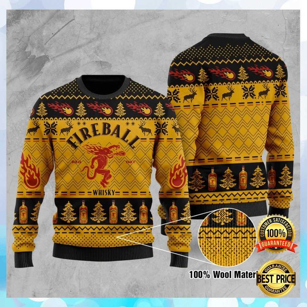 Fire Ball Whisky Ugly Sweater 4