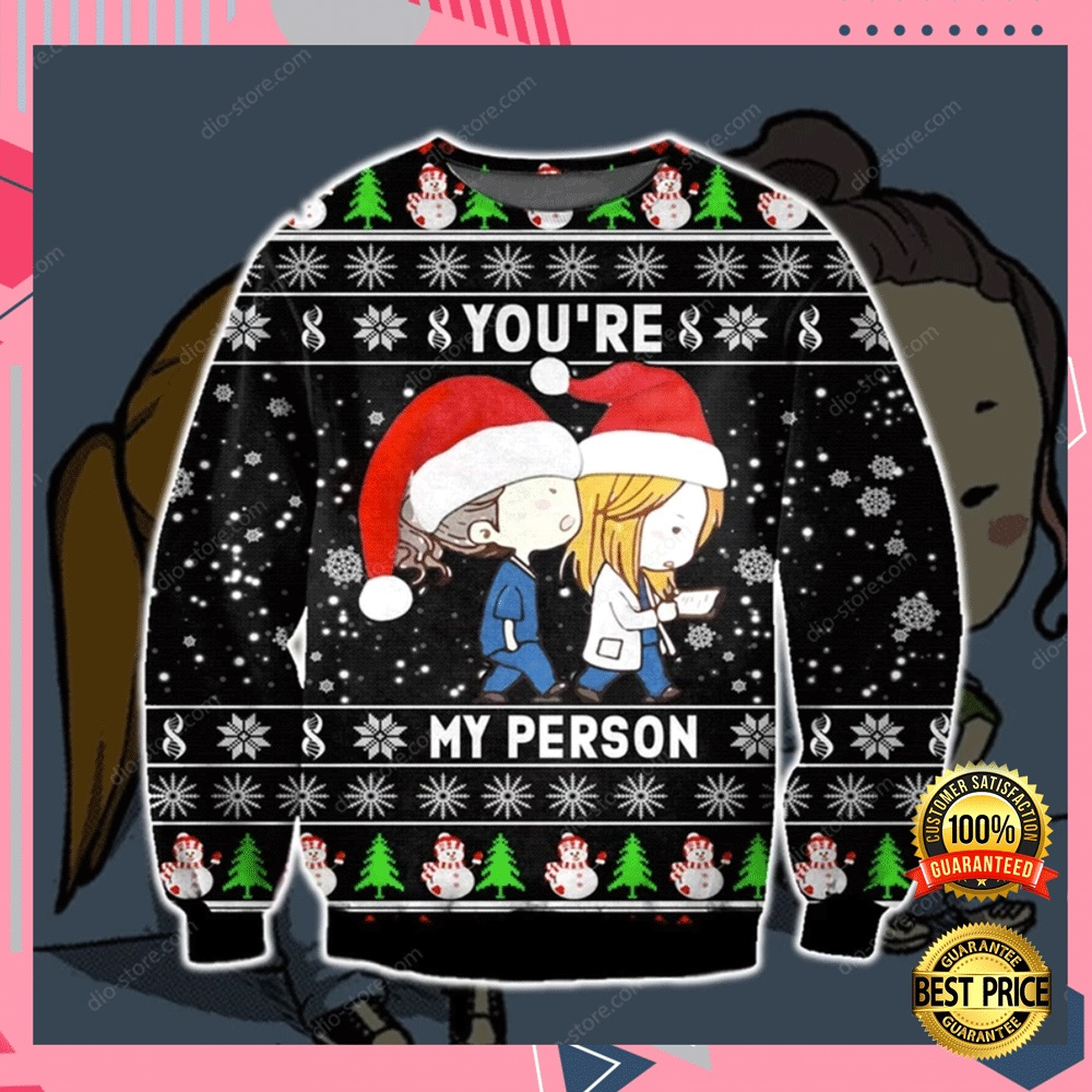 Greys Anatomy You're My Person 3d Ugly Sweater 4