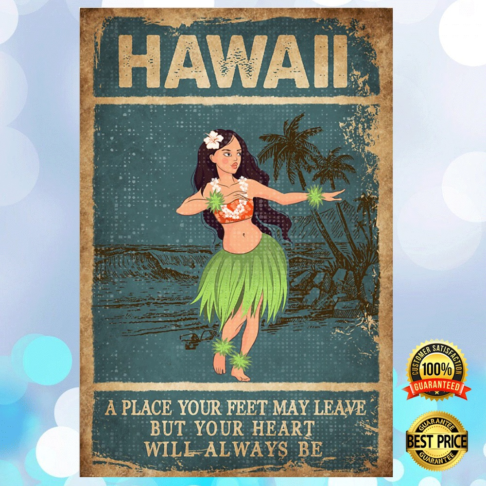 Hawaii A Place Your Feet May Leave But Your Heart Will Always Be Poster 4