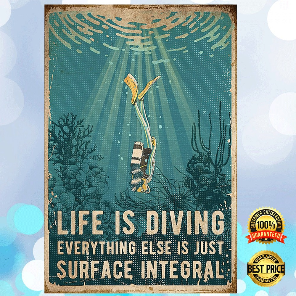 Life Is Diving Everything Else Is Just Surface Integral Poster 4