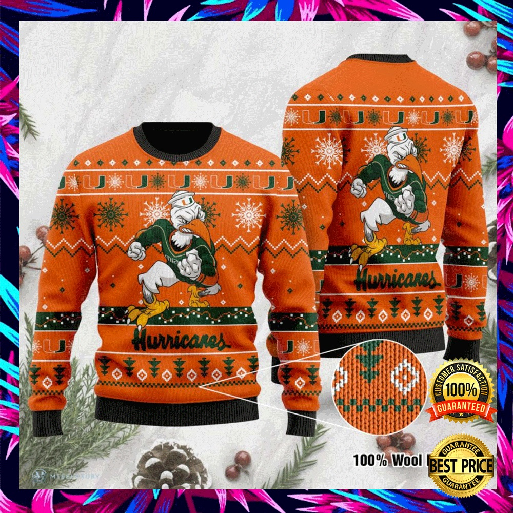 Miami Hurricanes Football Ugly Sweater 4