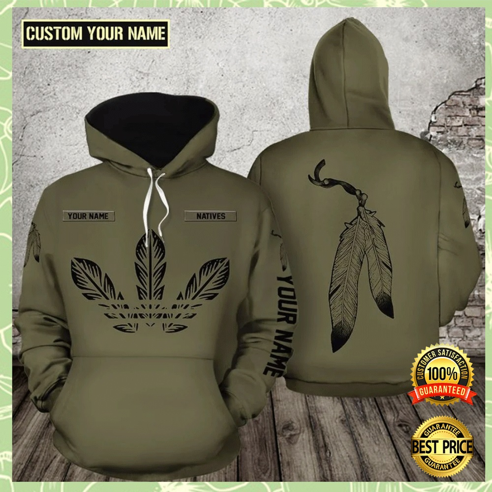 Native Leather All Over Printed 3d Hoodie 4