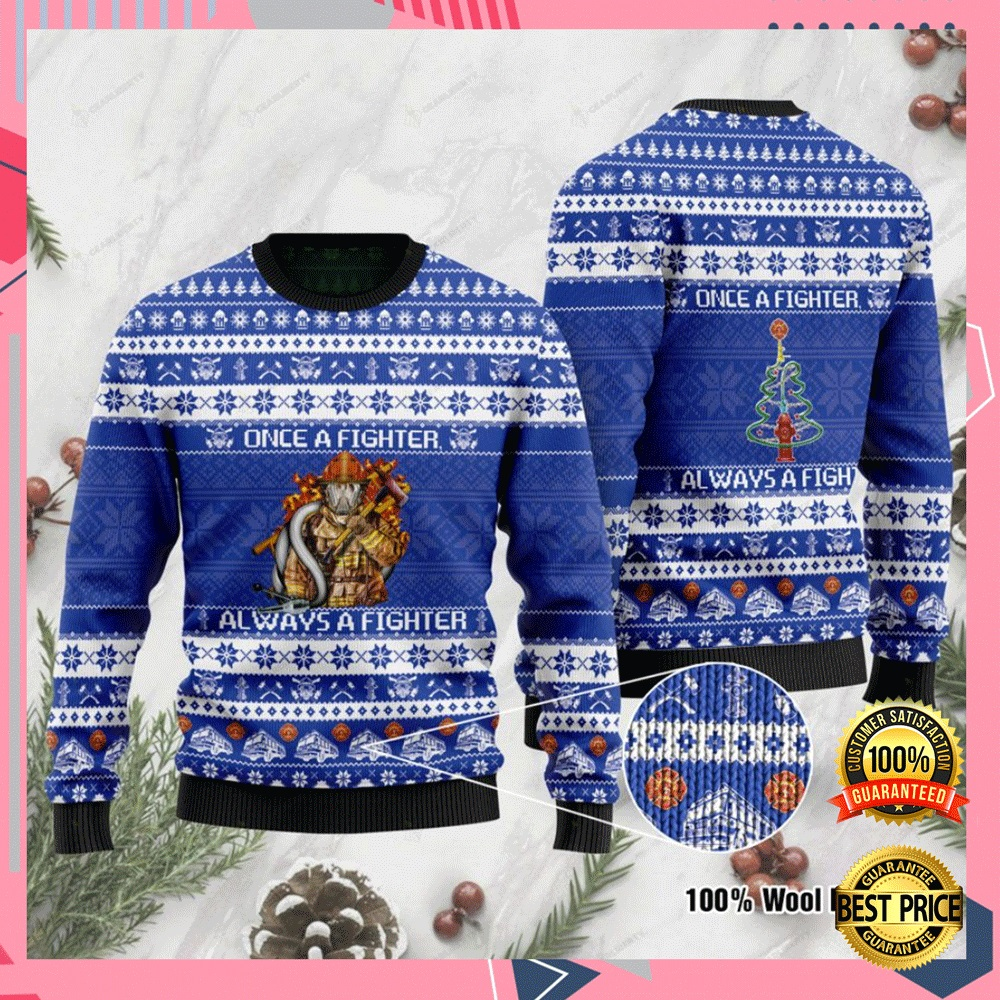 Once A Fighter Always A Fighter Ugly Sweater 4