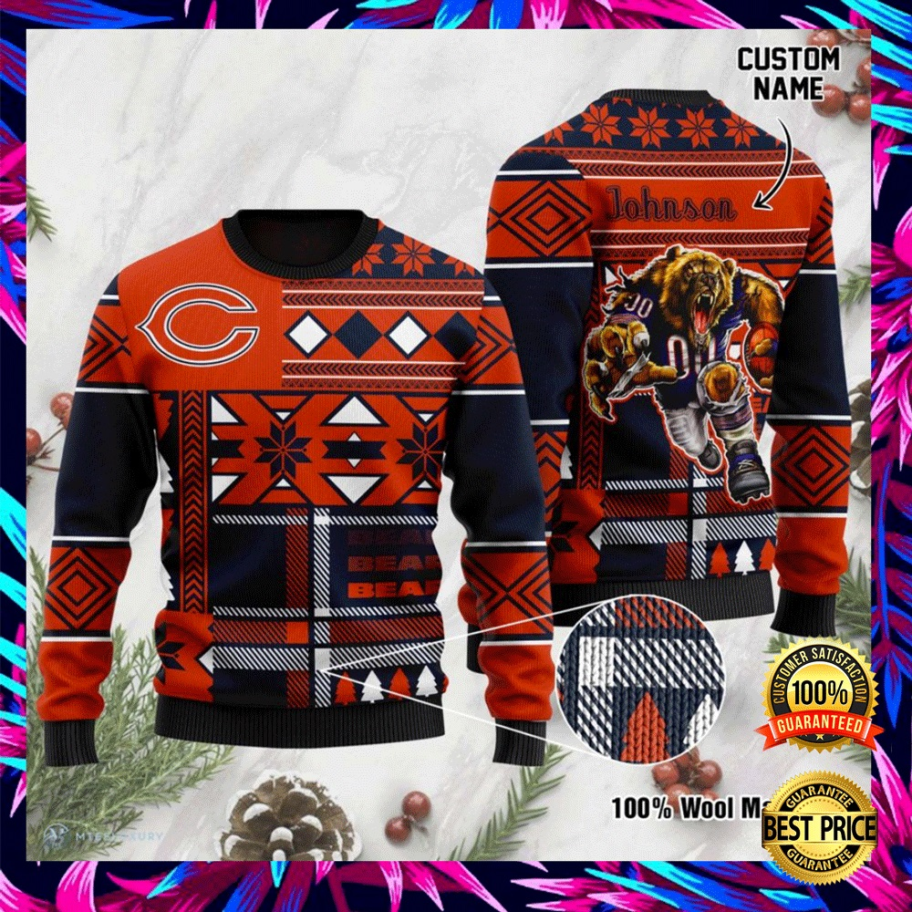 Personalized Chicago Bears Ugly Sweater 4