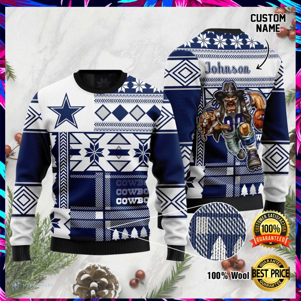 Personalized Dallas Cowboys Ugly Sweater 4