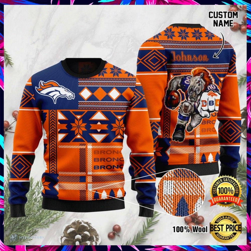 Personalized Denver Broncos Ugly Sweater 4