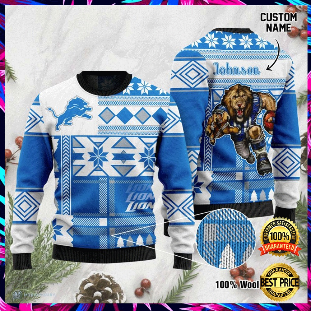 Personalized Detroit Lions Ugly Sweater 4