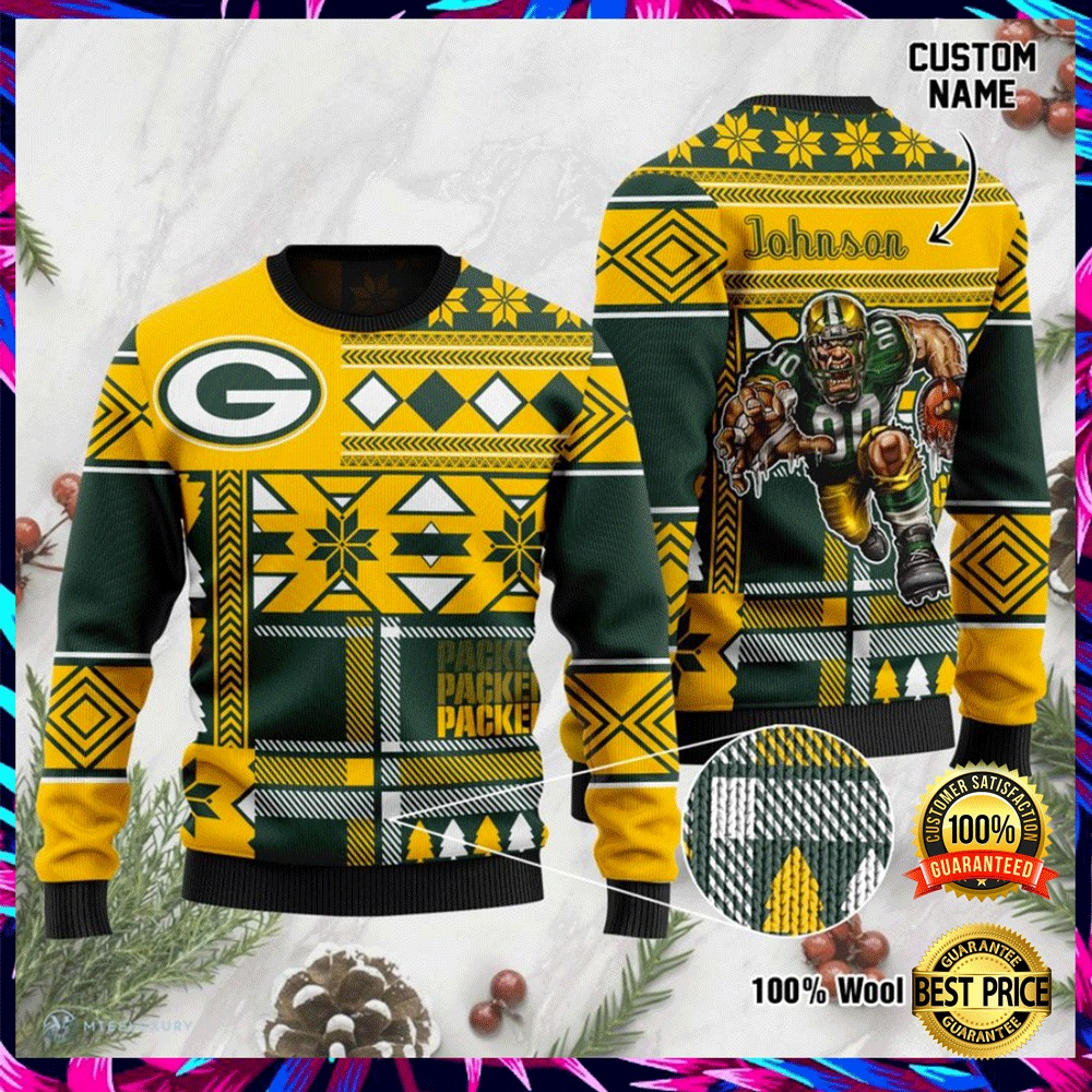 Personalized Green Bay Packers Ugly Sweater 4