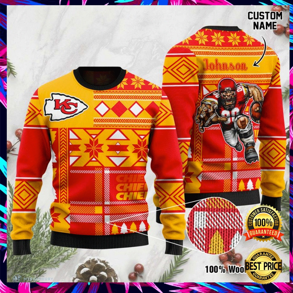Personalized Kansas City Chiefs Ugly Sweater 4