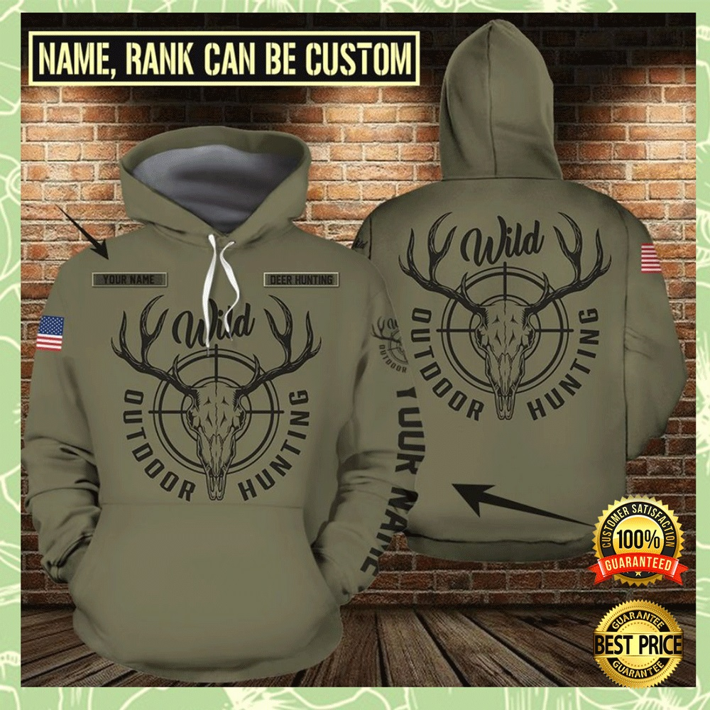Personalized Outdoor Hunting All Over Printed 3d Hoodie 4