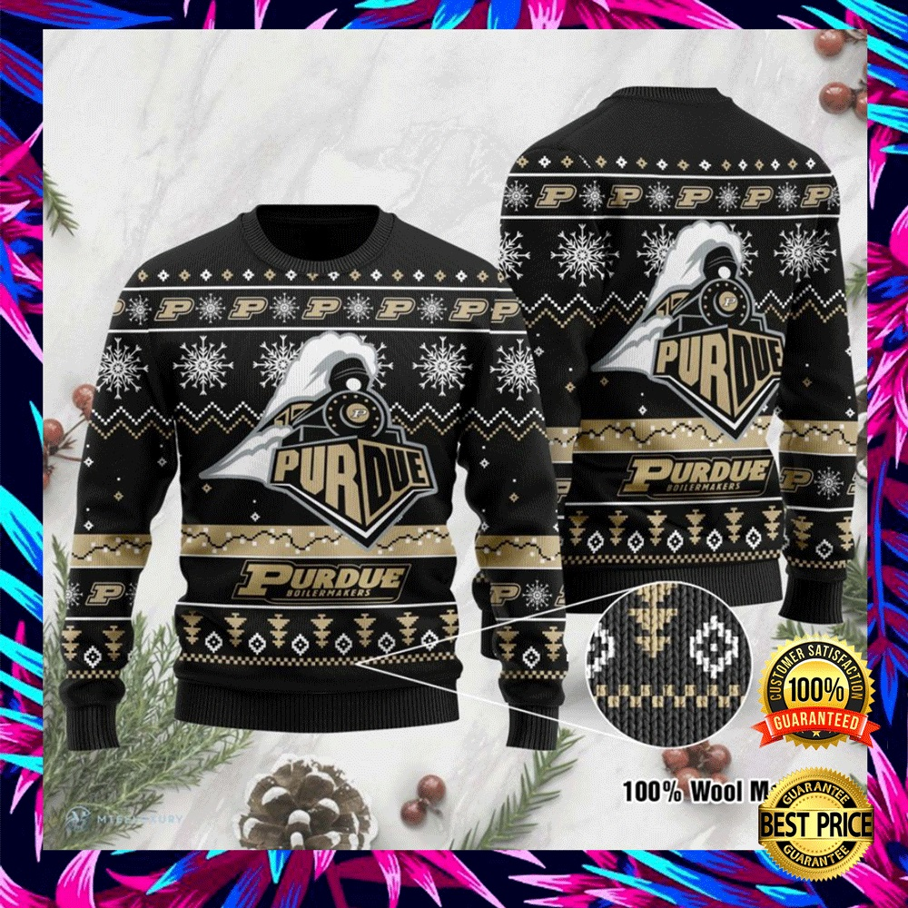 Purdue Boilermakers Football Ugly Sweater 4