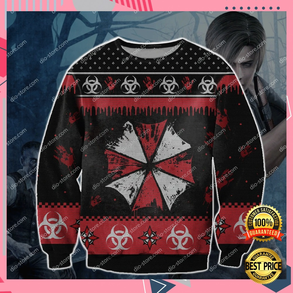Resident Evil 3d Ugly Sweater 4