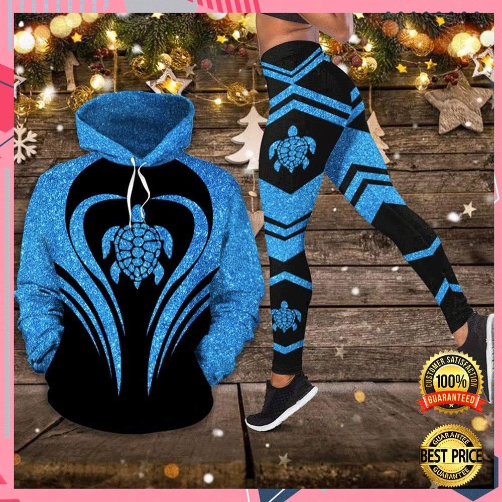 Sea Turtle Glitter 3d Hoodie And Legging 4
