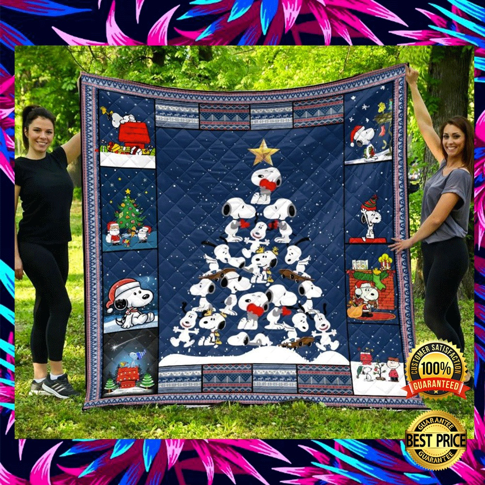 Snoopy Christmas Tree Quilt 4