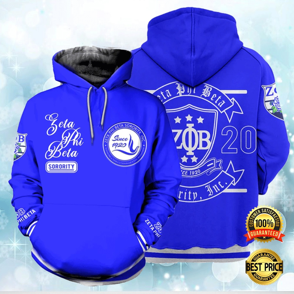 Zeta Phi Beta Since 1920 All Over Printed 3d Hoodie 4