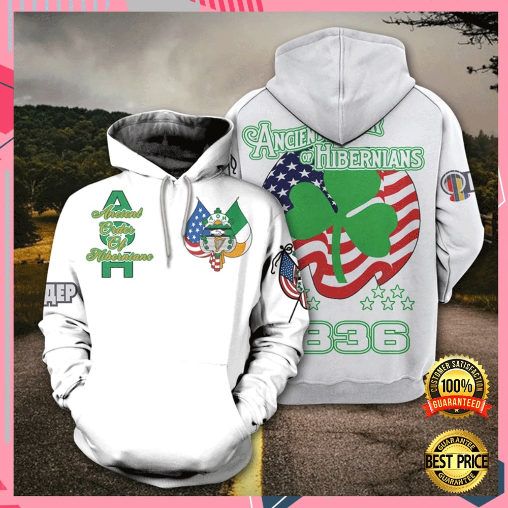 Ancient Order Of Hibernians All Over Printed 3d Hoodie 4