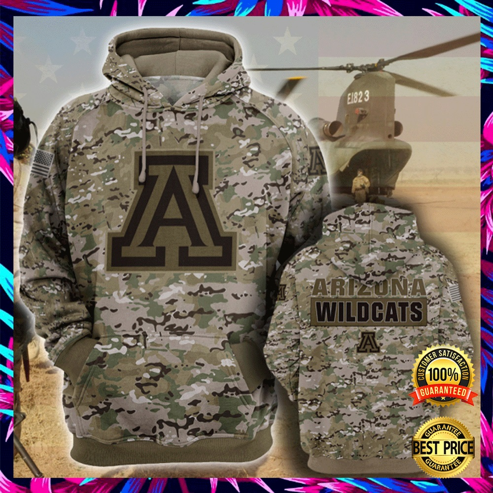 Army Camo Arizona Wildcats All Over Printed 3d Hoodie 4